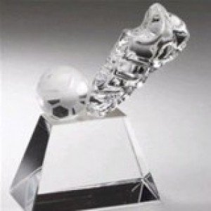 Crystal Kick Soccer Ball Award