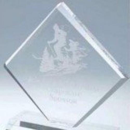 Clear Diamond Acrylic Award