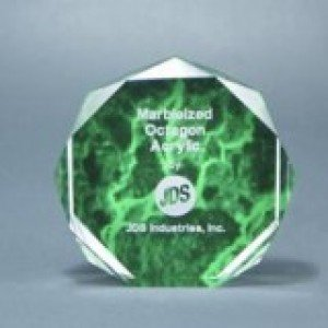 Green Acrylic Octagon Award