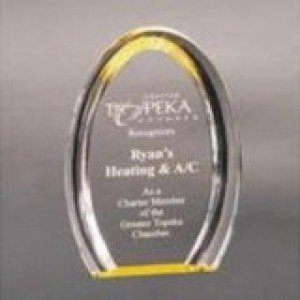 Gold Oval Acrylic Halo Award