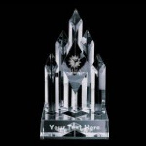 Mixed Martial Crystal Diamond Pillar Award