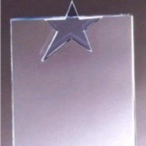 Crystal Blue Star Rectangle Award