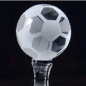 Crystal Soccer Frosted Award