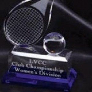 Tennis Crystal Award