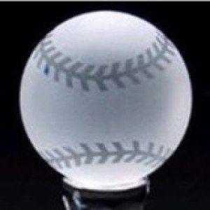 Crystal Baseball Frosted Award