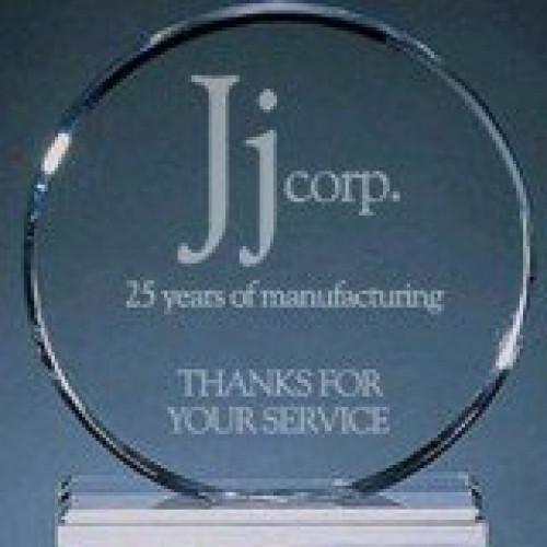 Clear Acrylic Circle Award