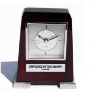 Standing Silver Clock