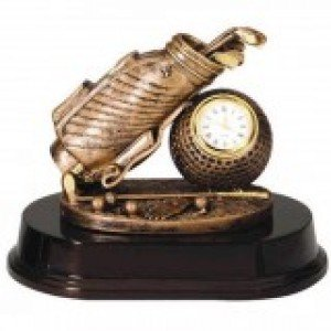 Golf Clock Trophy
