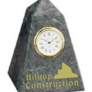 Black Marble Pyramid Clock