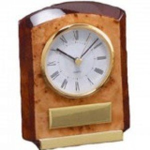 Burlwood Piano Finish Clock