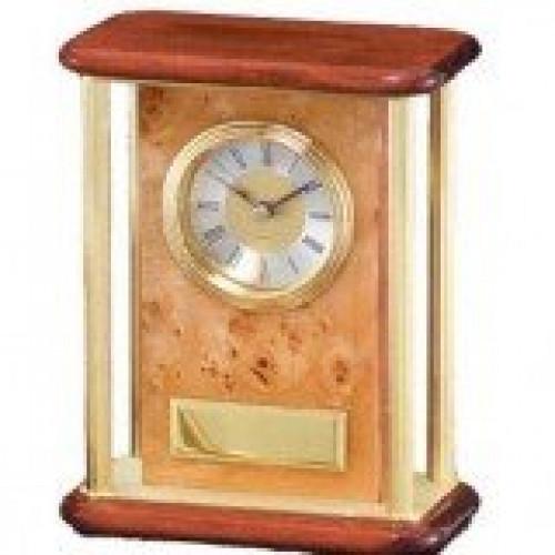 Burlwood Piano Finish Desk Clock