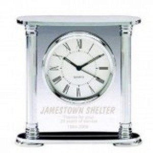 Chrome Acrylic Clock Q412