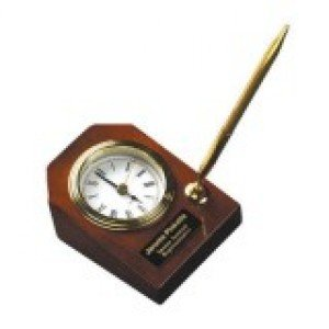 Desk Clock with Pen