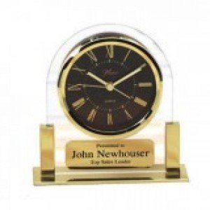 Gold Brass Clock 5 1/4