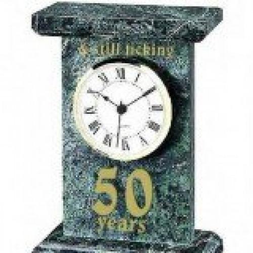 Green Marble Clock