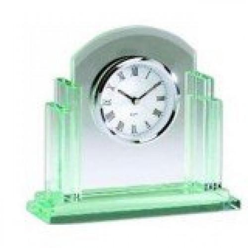 Jade Glass Clock Q404