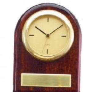 Rosewood Arched Clock