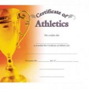 Athletic Certificate