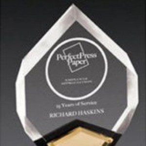 Gold Acrylic Marquis Award
