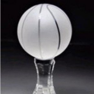 Crystal Frosted Basketball Award