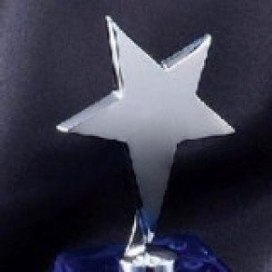 Star Blue Crystal Award