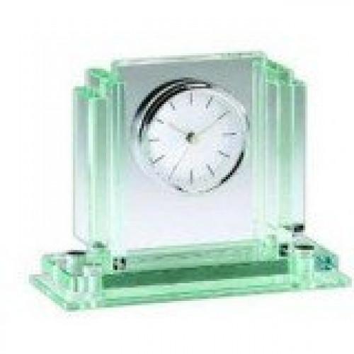 Jade Glass Clock 7x6x3