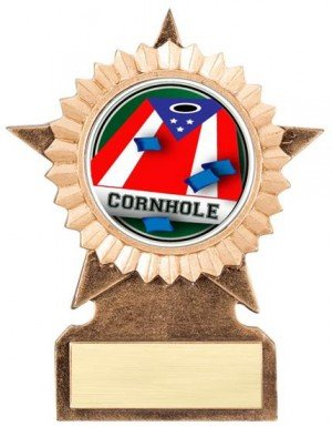 Cornhole Star Stand Trophy
