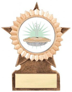 Pie Bake Off Star Stand Trophy