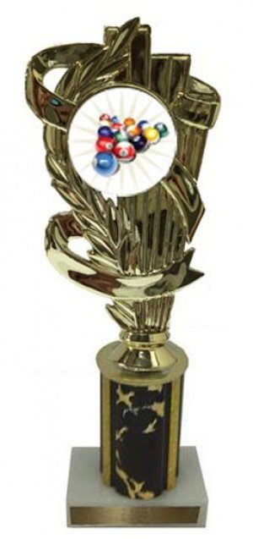 Billiard 2 Column Trophy