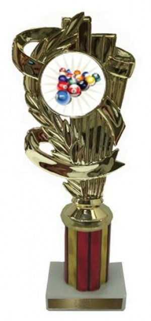 Billiard 2 Column Trophy