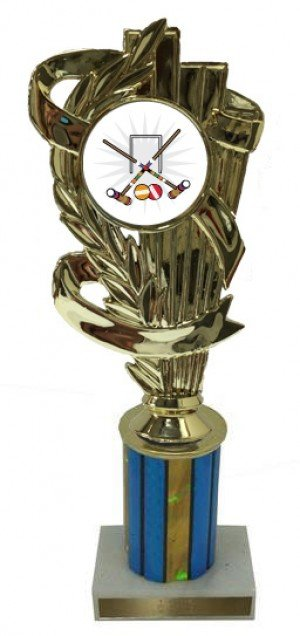 Male Croquet Column Trophy
