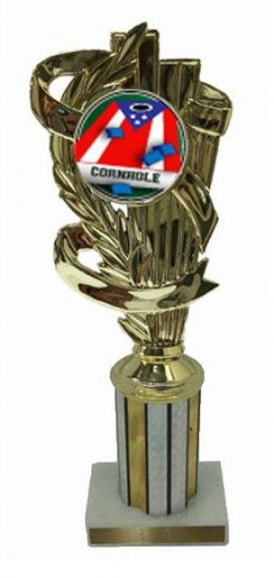 Cornhole 2 Column Trophy