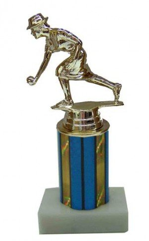 Female Bocce Column Trophy