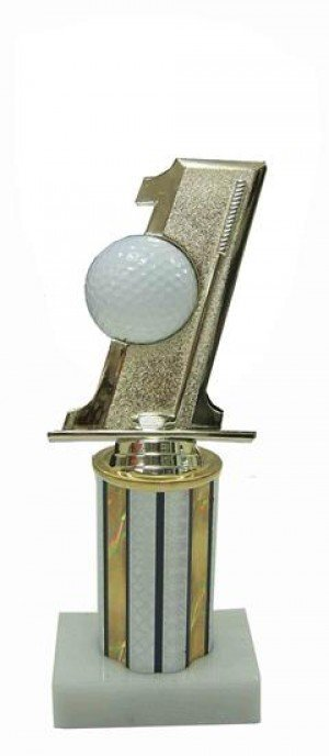 Hole In One Column Trophy