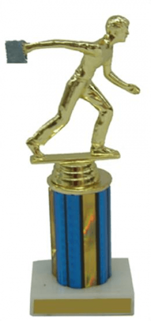Male Cornhole Column Trophy