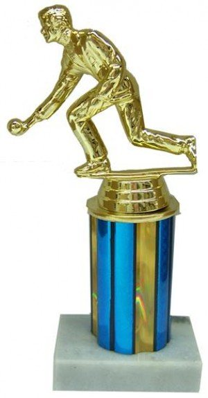 Bocce Column Trophy