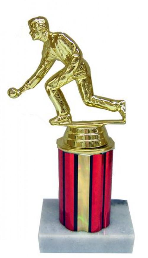 Bocce Column Trophy