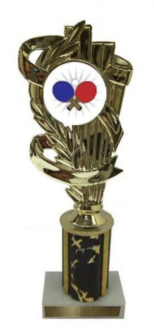 Ping Pong Column Trophy