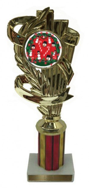 Ugly Christmas Sweater Column Trophy