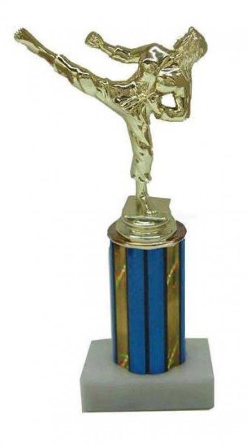 Female Karate Column 8 Inches Trophy