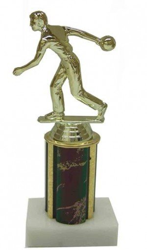 Male Bowler Column Trophy