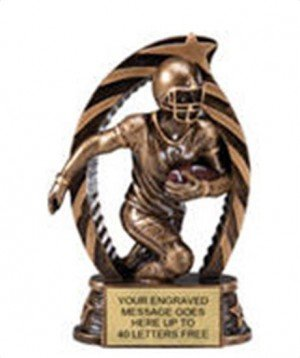 Football Star Flame Resin Trophy 5.5 Inches