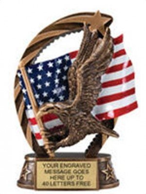 Eagle Star Flame Resin Trophies