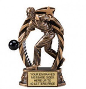 Bowling Male Star Flame Resin Trophy