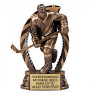 Hockey Male Star Flame Resin Trophies