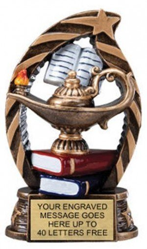 Lamp of Knowledge Star Flame Resin Trophies