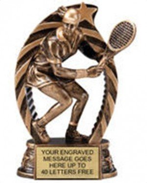 Tennis Female Star Flame Resin Trophies