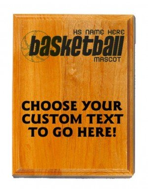 Basketball Sand Oak Plaque