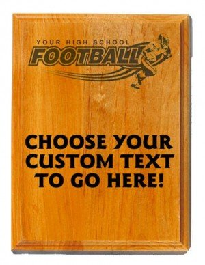 Football Sand Oak Plaque