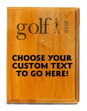 Golf Sand Oak Plaque
